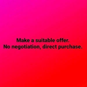 Make an offer.